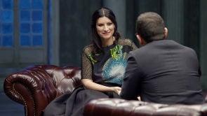 Laura Pausini y Pedro Ruiz