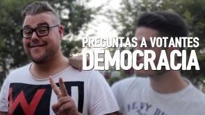 Preguntas a votantes: Democracia