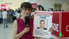 """(19-06-17) Thais busca al """"desaparecido"""" Pedro en el Congreso del PSOE"""
