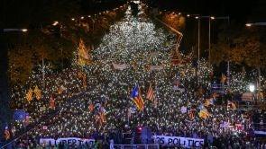 Manifestación en Barcelona por la libertad de los presos