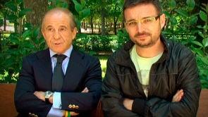 Con José María García en el Retiro