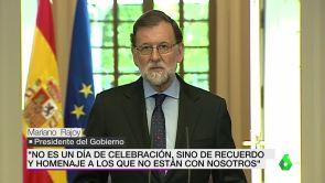 """(04-05-18) Rajoy asegura que las condenas se seguirán cumpliendo tras la disolución de ETA y que no habrá """"impunidad"""""""