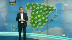 (04-05-18) Lluvia en Baleares, Cataluña y Aragón y ascenso térmico en el resto del país