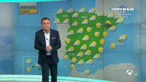 (08-05-18) Mañana, lluvias y tormentas fuertes en Cataluña, interior sureste y Baleares