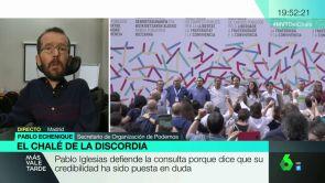 """(21-05-18) Pablo Echenique: """"Voy a participar en la consulta de Podemos porque creo que hay un acoso de tintes mafiosos a Montero, Iglesias y su familia"""""""