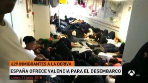(11-06-18) España ofrece Valencia para el desembarco de los 629 inmigrantes