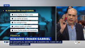 (21-06-18) Las claves del 'crimen de Gabriel' que ha desvelado el levantamiento del secreto de sumario: Ana Julia actuó sola y posiblemente le hizo 'vudú'
