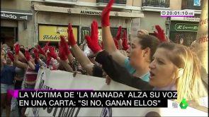 """(27-06-18) """"No os calléis, denunciad"""": la víctima de 'La Manada' rompe su silencio en una emotiva y reivindicativa carta"""