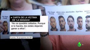 """(27-06-18) La víctima de 'La Manada' rompe su silencio: """"No os quedéis callados, les estáis dejando ganar a ellos"""""""