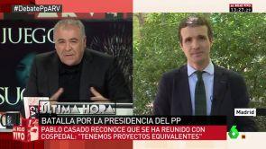 """(10-07-18) Pablo Casado: """"Yo soy el que me he partido la cara por el PP en los platós a los que nadie quería ir"""""""