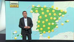 (12-07-18) Más calor en el este. En el resto de España...menos