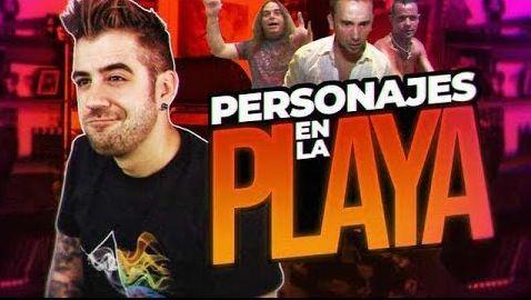 LOS PERSONAJES DE LA PLAYA - AuronPlay