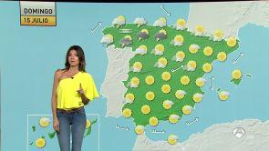 (14-07-2018) Tormentas en el norte y altas temperaturas en la zona mediterránea