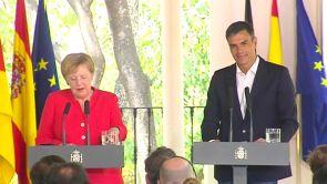 """(11-08-18) Sánchez y Merkel reclaman a la UE una """"cooperación leal"""" con África frente al drama migratorio: """"Hay que respetar la dignidad humana"""""""