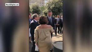 (17-08-18) Felipe VI saluda a Torra, que le recuerda que el exconseller Forn sigue en prisión
