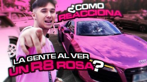 ¿Cómo reacciona la gente al ver un R8 rosa? | Theshootercoc