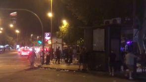 (15-10-18) Los 'hooligans' ingleses provocan disturbios y destrozos en el centro de Sevilla