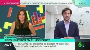 """(17-10-18) Toni Roldán, portavoz de Economía de Ciudadanos: """"Los presupuestos de Sánchez son potencialmente ilegales"""""""