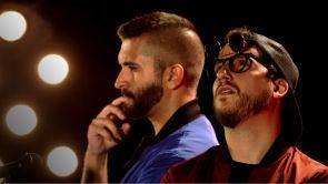 Keunam y Hermoti imitan a Eros Ramazzotti, Antonio Orozco y más voces en 'El Patio' de Pablo López