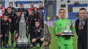 (15-11-18) Indignación por la diferencia de tamaño entre el trofeo entregado al Athetlic masculino y femenino en el Teresa Herrera