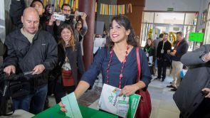 """(02-12-18) Teresa Rodríguez espera que """"haya una participación masiva"""" porque """"es importante que los andaluces hagan política"""""""