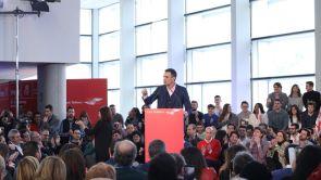 """(13-01-19) Pedro Sánchez insiste en la defensa de los Presupuestos: """"Están cargados de valores sociales"""""""