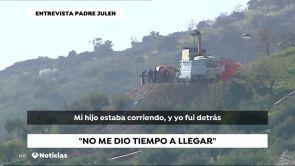 """(15-01-19) El padre de Julen, el pequeño atrapado en un pozo de Totalán, denuncia falta de medios: """"Estamos muertos"""""""