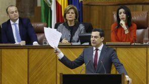 (16-01-19) Juanma Moreno, elegido presidente de la Junta de Andalucía con los votos del PP, Cs y Vox