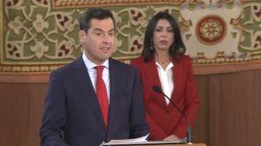 """(18-01-19) Moreno Bonilla toma posesión como presidente de Andalucía: """"La lealtad estará por encima de diferencias partidistas y batallas personales"""""""