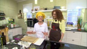 Programa 35: Ensalada templada de bacalao con pimientos confitados y mousse de canela con frambuesas