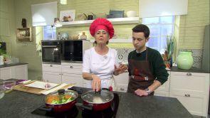 Programa 36: Rape con verduras y piñones y crema de vainilla con salsa de kiwi