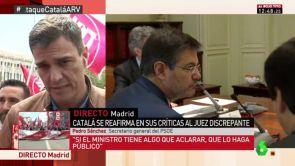 """(01-05-18) - Pedro Sánchez: """"Si el ministro tiene algo que aclarar sobre el juez, que lo haga público. Catalá pecó de imprudente y torpe"""""""