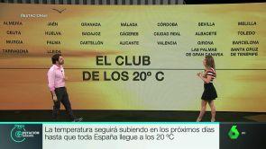 (03-05-18) La temperatura seguirá subiendo en los próximos días hasta que toda España llegue a las 20 grados