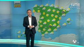 (09-05-18) Mañana, lluvia en Cataluña, Cantábrico, zonas del sur, Canarias y Baleares