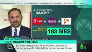 """(25-05-18) José Luis Ábalos: """"Tras la moción de censura del PSOE contra Rajoy, las elecciones serían lo antes posible"""""""
