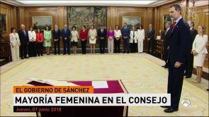 (07-06-18) Los 17 ministros del Gobierno de Sánchez prometen sus cargos ante el Rey
