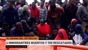 (15-06-18) 4 inmigrantes muertos y 700 rescatados en el Estrecho y Alborán