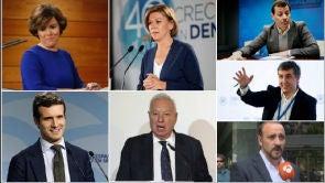 (20-06-18) Los siete precandidatos presentan los avales en la sede Génova