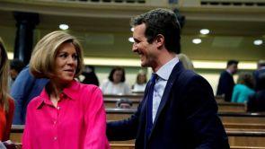"""(16-07-2018) Cospedal rompe su silencio y apoya a Casado como una """"magnífica opción"""" para presidir el PP"""