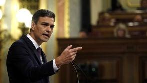 """(17-07-18) Sánchez dice que su decisión para exhumar los restos de Franco es """"firme"""" y será """"en breve, en muy breve espacio de tiempo"""""""