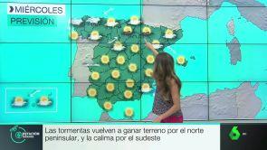 (17-07-18) Las tormentas vuelven a ganar terreno por el norte peninsular y la calima por el sudeste