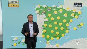 (18-07-18) Mañana en el este de España temperaturas más altas