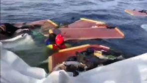 (18-07-18) La ONG Open Arms encuentra un bote hundido con una mujer y un niño muertos y acusa a Libia de hundir el barco