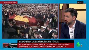 """(19-07-18)  La tajante reflexión de Ignacio Escolar sobre la exhumación de Franco: """"No se trata de dejar a los muertos en paz, se trata de acabar con una anomalía histórica"""""""