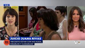 """(19-07-18) Juana Rivas, tras el juicio: """"Por ser su padre genéticamente mi exmarido no tiene derecho a machacar a mis hijos"""""""