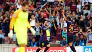 (18-09-18) Leo Messi destroza al PSV con un 'hat-trick' en el debut del Barcelona en Champions
