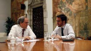 (05-10-18) Quim Torra y Pere Aragonès sólo garantizan su pacto hasta la sentencia de los presos del 'procés'