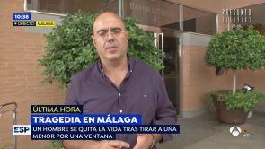 """(09-10-18) El hombre que se lanzó con una niña desde un sexto piso en Málaga era un amigo de la familia """"con problemas"""""""