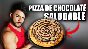 Receta pizza de chocolate fitness saludable y rápida | Corbacho