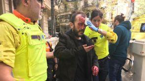 (10-11-2018) Brutal agresión a un hombre por llevar la bandera de España en el metro de Barcelona